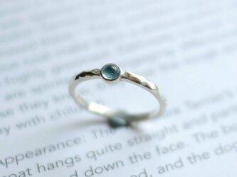 【tronc】sv925 blue topaz ringの画像