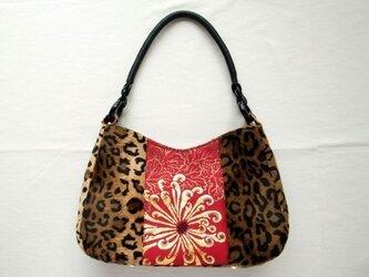 Leopard bag    菊とレオパードのバッグの画像