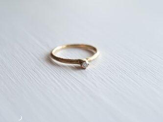 MARTINE K18 ゴールドリング 月の指輪+ダイヤモンド【M035】の画像