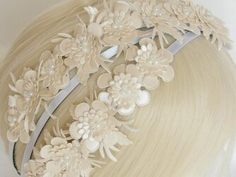 Nonslip Ribbon パーリーホワイトフラワーの画像