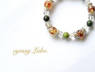 olive~ガスペイドとオリーブアンバーのブレスレット~の画像