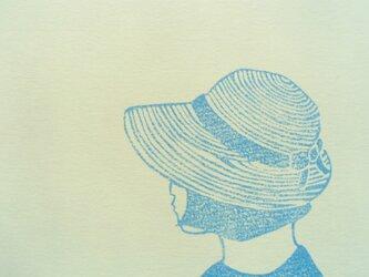 ポストカード(2枚)  帽子の画像