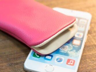 iPhone6レザーケース サクラピンクの画像