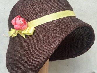 夏素材の子供用帽子の画像