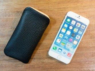 iPhone6レザーケース トリヨンクレマンス・ブラックの画像
