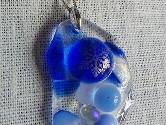 スノーフレークのネックレスの画像