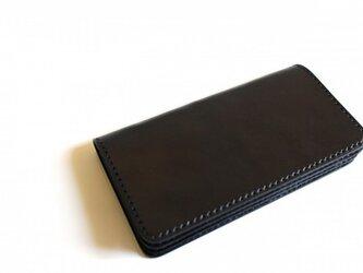 【受注生産品】長財布 ~栃木ブラックサドル オールブラック~の画像