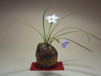 石輪挿し 石の花器 山野草の生け花 K-168の画像