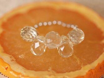 レモンクオーツのしずくリングの画像