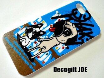 iPhone5・5S対応ケース dog おさんぽの画像