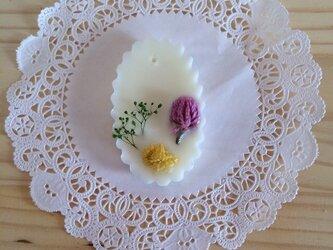 【メッセージ入れ可能】プルメリアの香り アロマワックスサシェの画像