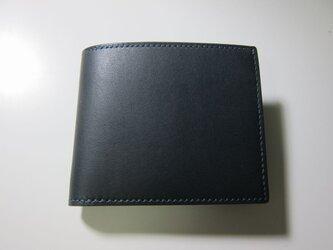 二つ折り財布(ネイビー)の画像