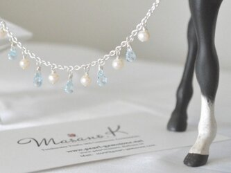 Sky-blue Topaz Necklaceの画像