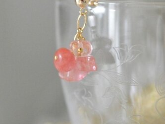 Cherry Quartz Earringsの画像