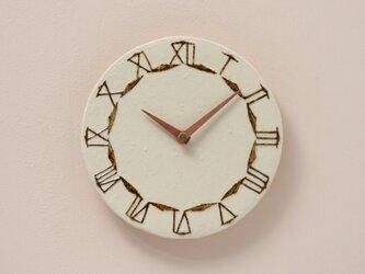陶製掛け時計φ190(木製針)の画像