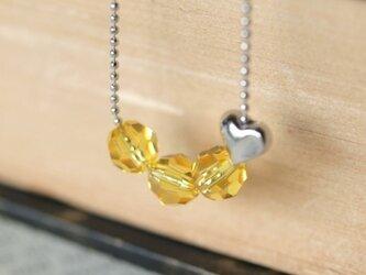 Swarovski のネックレス * レモン *の画像