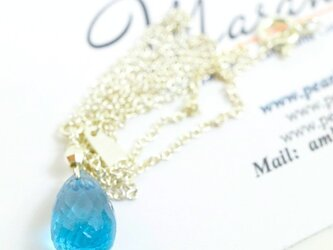 London Blue Topaz Necklaceの画像