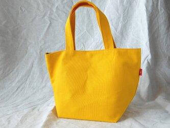 元気な黄色の帆布ミニトートの画像