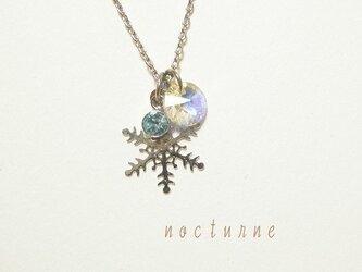 雪の結晶のネックレス~silver~の画像