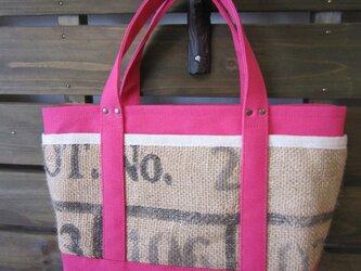 SALE「コーヒー tote」 Sサイズ ディープピンクの画像