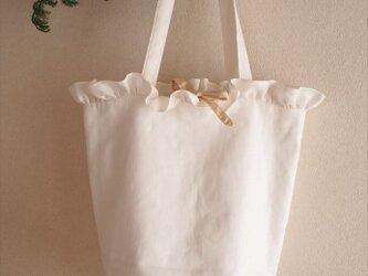 white lilac bucket basket(L)の画像