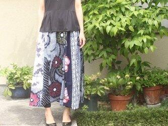 浴衣のロングスカート・パッチワーク(M~L)の画像