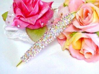 ◆雑誌掲載◆スワロフスキーデコ ボールペン  まるで宝石箱の画像