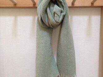 手織り ストールの画像
