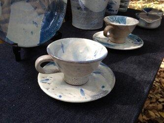 雲柄のカップ&ソーサーの画像