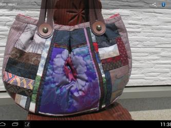 襠付き丸っこバッグ  一点品の画像