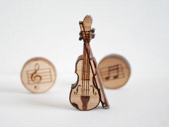 ブローチ music (ヴァイオリン)の画像