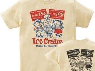 アイスクリームBoy&Girl☆ 両面 Tシャツ WS~WM•S~XL  Tシャツ【受注生産品】の画像