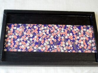 和紙のお盆・桜の画像