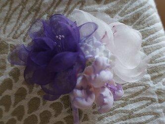 紫のコサージュ・Aの画像