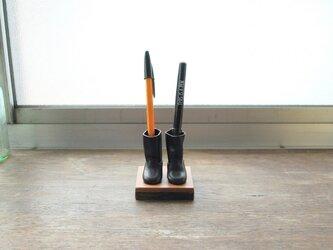 エンジニアブーツのペン立て 黒の画像