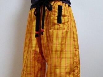 着物リメイク♪ 黄八丈ズボンの画像