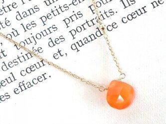 14KGF Carnelian Necklaceの画像