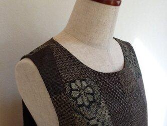 古布 大島紬ジャンパースカート(総裏付)の画像