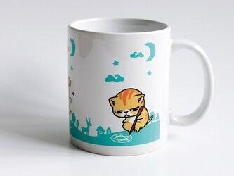 新作!!猫マグカップ『キャトられ』の画像