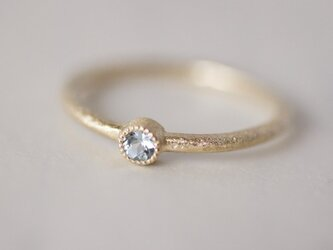 Aquamarine birthstone ring [R050K10AQ]の画像