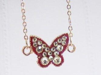 スイーツデコ ブレスレット レッド蝶 ジョンキルの画像