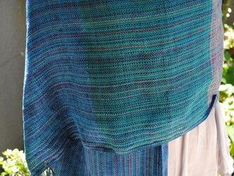 シルク手織ストールTの画像