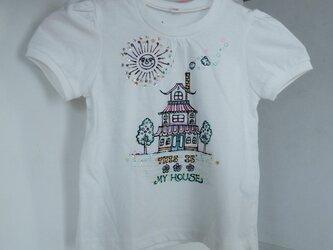 送料無料 SALE おうちの手書きTシャツ 110センチの画像