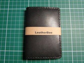 本革サドルレザーのカードケース(黒)の画像