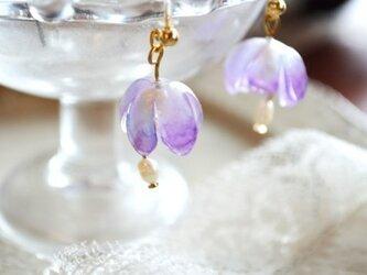 涼花 淡紫ピアスの画像