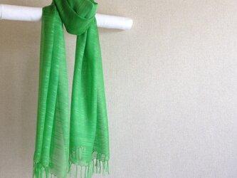 手染めシルクストール green greenの画像