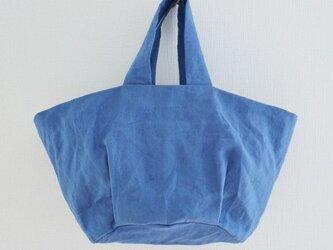 丸底ミニトートバッグ(ブルー)の画像