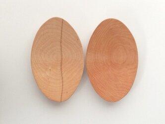 木の皿 樺材の画像