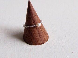 【受注制作】Melting Ring with Pearlの画像