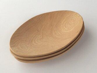木の皿 タモ材の画像